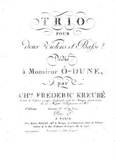 String Trio in D Minor, Op.6: Cello part by Charles-Frédéric Kreubé