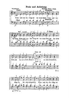 Preis und Anbetung: For mixed choir by Christian Heinrich Rinck