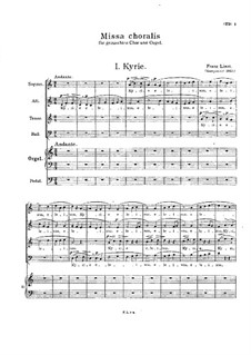 Missa choralis, S.10: Full score by Franz Liszt