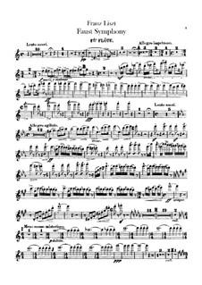Faust Symphony, S.108: Flutes parts by Franz Liszt