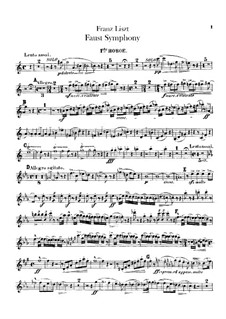 Faust Symphony, S.108: Oboes I-II parts by Franz Liszt