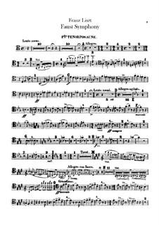 Faust Symphony, S.108: Trombones and tuba parts by Franz Liszt