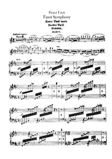 Faust Symphony, S.108: Harp part by Franz Liszt