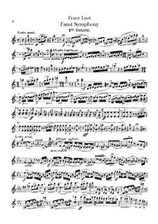 Faust Symphony, S.108: Violin I part by Franz Liszt