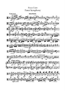 Faust Symphony, S.108: Viola part by Franz Liszt