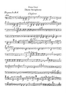 Dante Symphony, S.109: Percussion parts by Franz Liszt