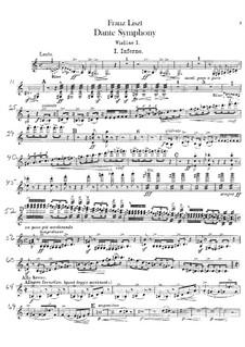 Dante Symphony, S.109: Violin I part by Franz Liszt