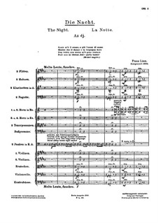 Trois odes funèbres, S.112: No.2 The Night by Franz Liszt