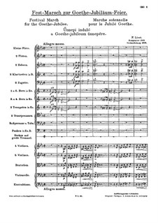 Festival March for the Goethe-Jubilee, S.115: Festival March for the Goethe-Jubilee by Franz Liszt