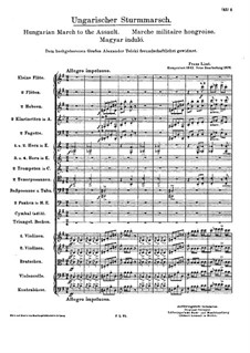 Hungarian March to the Assault, S.119: Hungarian March to the Assault by Franz Liszt