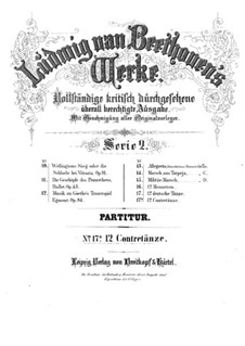 Twelve Contredanses for Orchestra, WoO 14: Complete set by Ludwig van Beethoven
