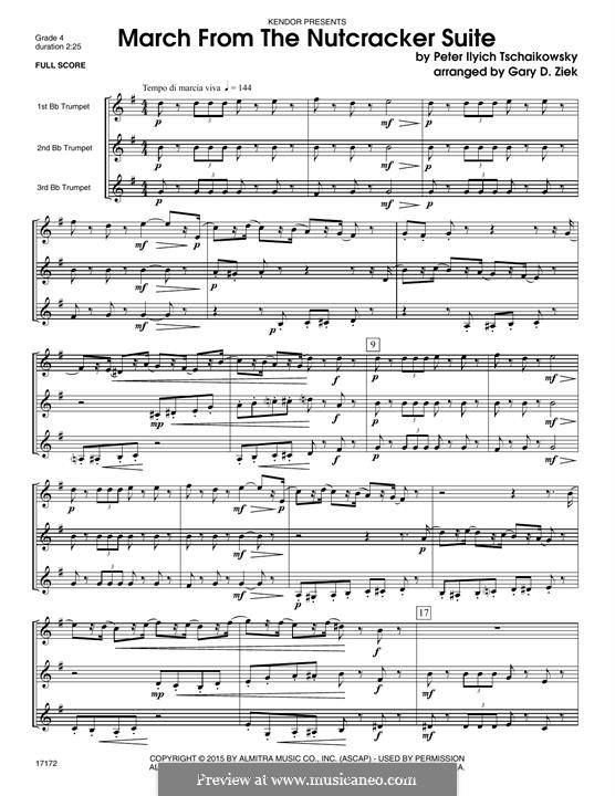 No.2 March: For trumpets – full score by Pyotr Tchaikovsky
