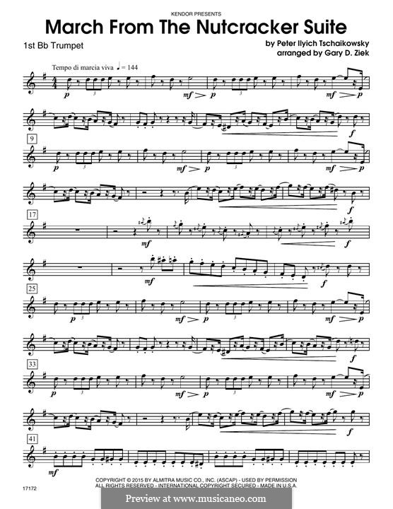 No.2 March: For trumpets – 1st Bb Trumpet part by Pyotr Tchaikovsky