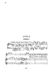 Benvenuto Cellini, H.76 Op.23: Act II. Arrangement for soloists, choir and piano by Hector Berlioz