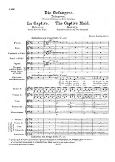 The Captive Maid, H.60 Op.12: For voice and orchestra by Hector Berlioz