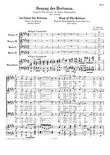 Fleurs des landes, H.124 Op.13: Le chant des bretons, for choir and piano (First version) by Hector Berlioz