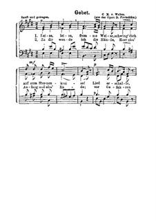 Akt II, Nr.8 Leise, leise, fromme Weise (Wie nahte mir der Schlummer): For choir by Carl Maria von Weber