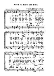 Gebet fur Kaiser und Reich: Gebet fur Kaiser und Reich by Johann Sebastian Bach
