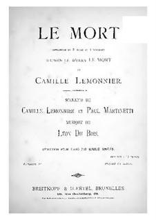 Le mort (Piano Score): Le mort (Piano Score) by Léon Du Bois
