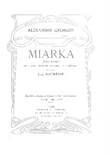 Miarka: Piano-vocal score by Alexandre Georges