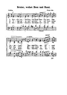 Bruder, weihet Herz und Hand: Bruder, weihet Herz und Hand by Franz Wilhelm Abt
