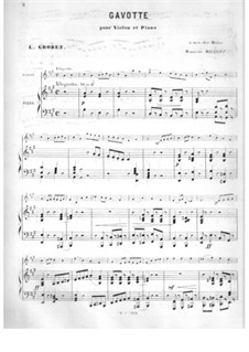 Gavotte for Violin and Piano: Gavotte for Violin and Piano by Louis Grobet