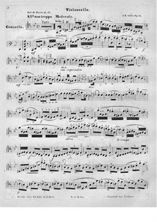Concerto for Cello and Orchestra in G Minor, Op.31: Solo part by Johann Benjamin Gross