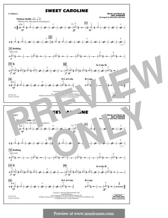Sweet Caroline (arr. Michael Brown): Cymbals part by Neil Diamond