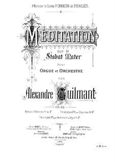 Méditation sur le Stabat Mater for Organ and Orchestra, Op.63: Méditation sur le Stabat Mater for Organ and Orchestra by Alexandre Guilmant