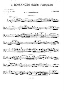 Two Romances without Words for Cello and Piano: Romance No.2 – solo part by Ernest Guiraud