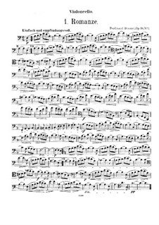Romance for Cello (or Viola, or French Horn) and Harmonium (or Piano), Op.56 No.1: Cello and viola parts by Ferdinand Hummel