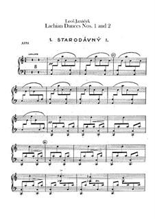 Lašské tance (Lachian Dances), JW 6/17: Dances No.1-2 – harp part by Leoš Janáček