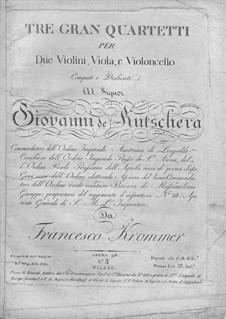 String Quartet in G Major, Op.92 No.3: String Quartet in G Major by Franz Krommer