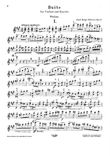 Suite for Violin and Piano, Op.43: Solo part by Josef Krug-Waldsee