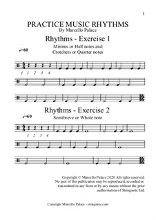 Practice Music Rhythms: Practice Music Rhythms by Marcello Palace