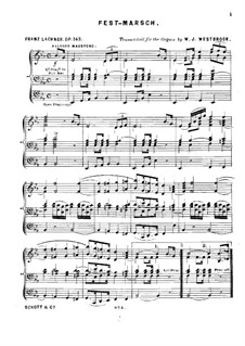 Fest-March, Op.143: Fest-March by Franz Paul Lachner