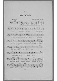 Ave Maria for Voice, Choir, Strings and Organ (or Harmonium), Op.162:  Bass Part by Franz Paul Lachner