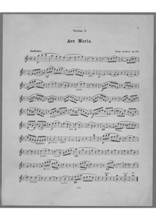 Ave Maria for Voice, Choir, Strings and Organ (or Harmonium), Op.162: Violin I Part by Franz Paul Lachner