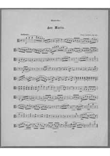 Ave Maria for Voice, Choir, Strings and Organ (or Harmonium), Op.162: Viola Part by Franz Paul Lachner