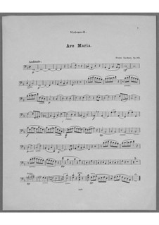Ave Maria for Voice, Choir, Strings and Organ (or Harmonium), Op.162: Cello Part by Franz Paul Lachner