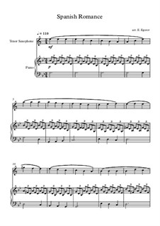 Spanish Romance: For tenor saxophone and piano by folklore
