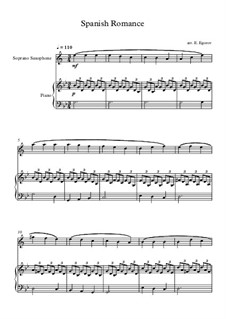 Spanish Romance: For soprano saxophone and piano by folklore