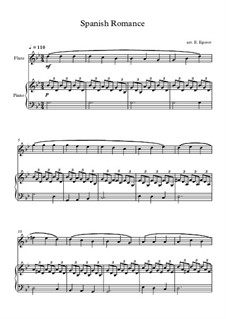 Spanish Romance: For flute and piano by folklore