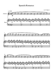 Spanish Romance: For clarinet and piano by folklore