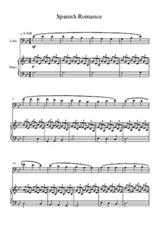 Spanish Romance: For cello and piano by folklore