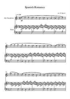 Spanish Romance: For alto saxophone and piano by folklore