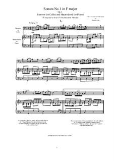 Six Sonatas for Cello (or Viola) and Basso Continuo, Op.1: Sonata No.1 in F major by Benedetto Marcello
