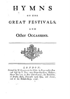 Hymns on the Great Festivals and Other Occasions: Hymns on the Great Festivals and Other Occasions by John Frederick Lampe
