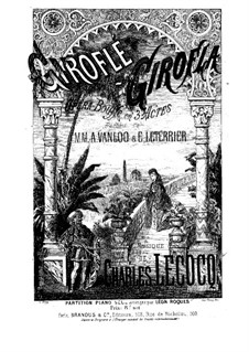 Giroflé-Girofla: For piano by Charles Lecocq