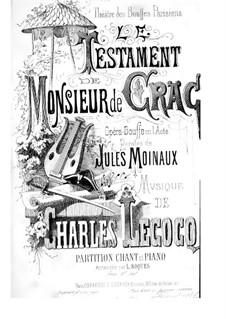 Le testament de monsieur de Crac: Le testament de monsieur de Crac by Charles Lecocq